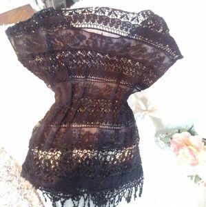 La Vie 89 Swim - Swimsuit Cover up/Tunic Crochet Lace